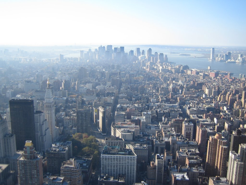 Vue Depuis Empire State Building Sur Manhattan South